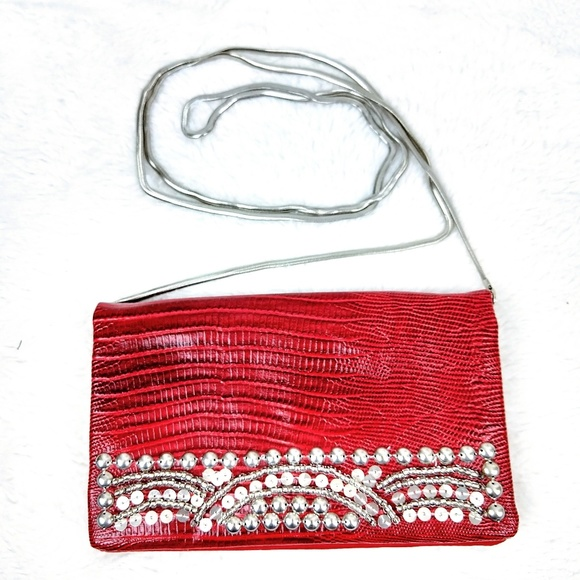 WHBM Small Red Wallet Purse bag